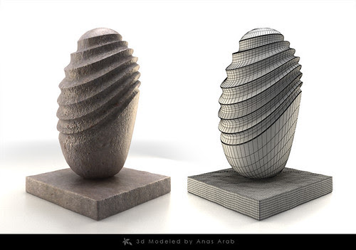"""Sculpture by Anas Arab """"Back to web design"""""""
