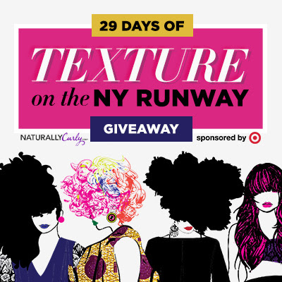 Enter to win Curly Hair prizes: NaturallyCurly Texture on the Runway Giveaway  http://www.naturallycurly.com/giveaways/NC_February2016_TOR