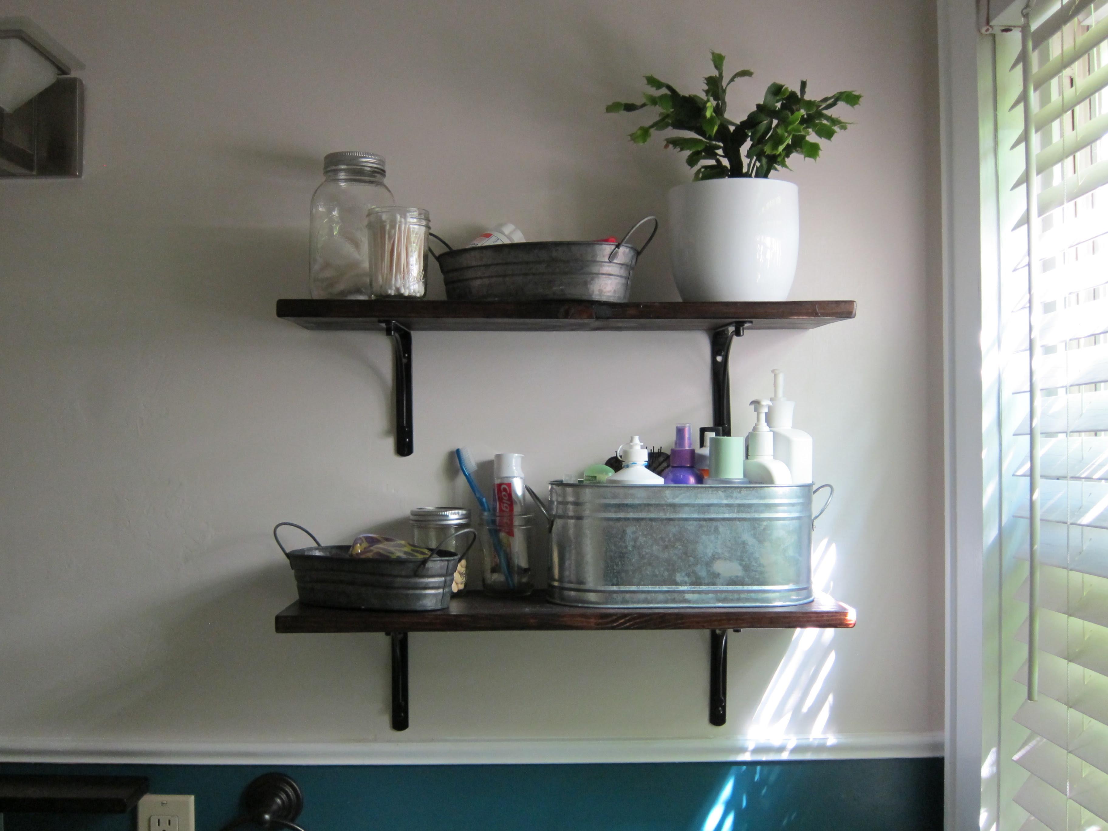 Home Design Ideas Bathroom Shelves
