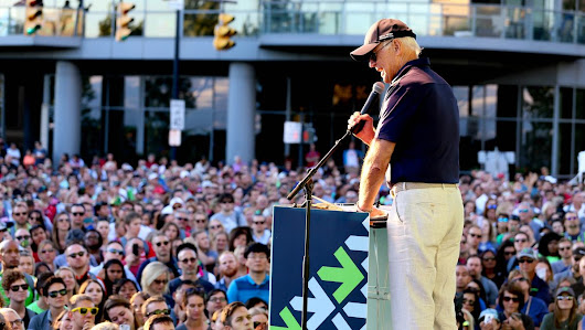 Pelotonia 2017 opening ceremony featured Joe Biden giving a rousing address to a crowd in the Arena District - Columbus - Columbus Business First