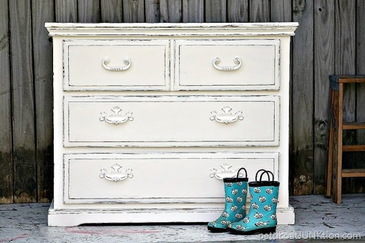 The Simple Beauty of White Distressed Paint-Petticoat Junktion