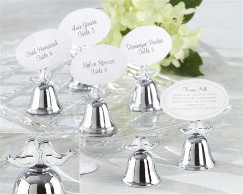 Love birds Kissing Bell Place Card Holders   Wedding Decor