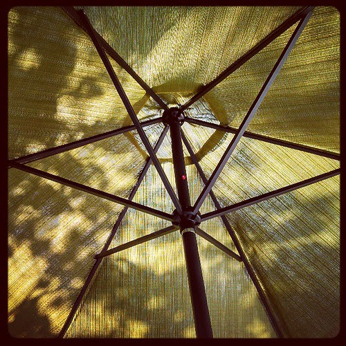 Patio Umbrella...my other current view #deck #umbrella