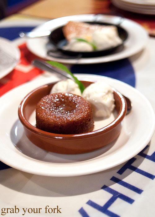 malva pudding at lucky tsotsi south african street food darlinghurst