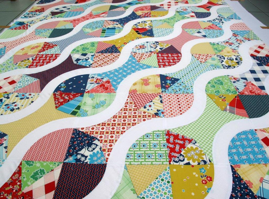 Basting an old quilttop