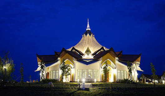 Dawn unveiling for Baha'i Battambang temple design - ATAD Steel Structure Corporation
