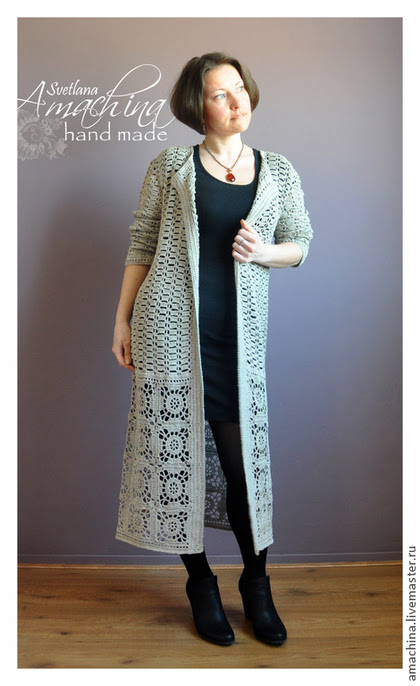 "Outer clothing handmade.  Fair of Masters - handmade.  Buy Summer coat crochet ""CITY"".  Handmade.  Beige"