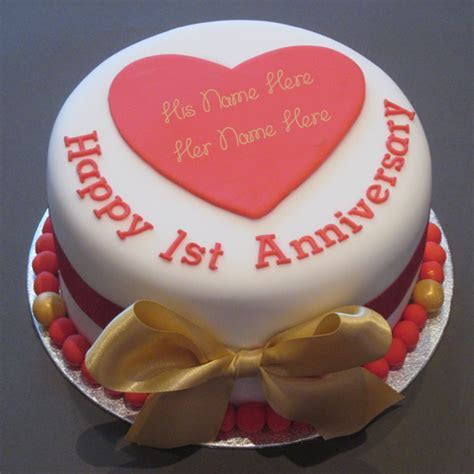 Anniversary Cake ? Write name on image