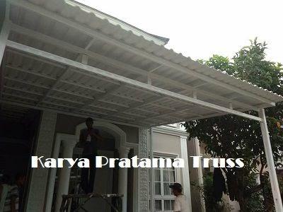 kanopi baja ringan atap polycarbonate - desain dekorasi rumah
