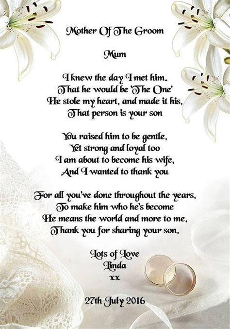 wedding day   gift mother   groom  bride