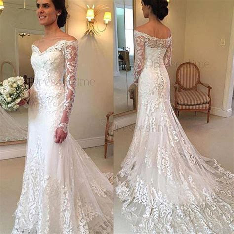Glamorous Mermaid Wedding Dress   Off the Shoulder Tulle