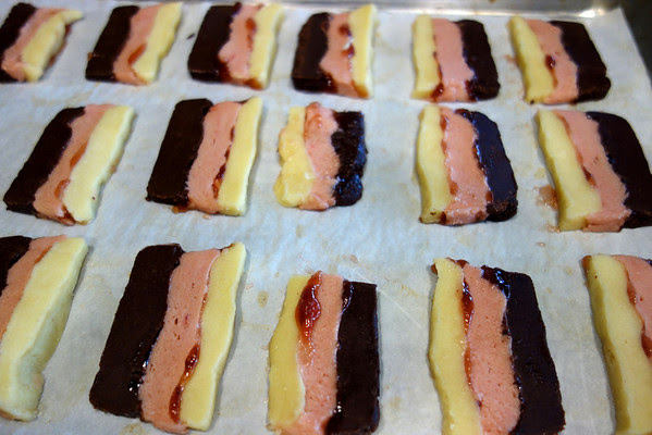 Neapolitan Striped Cookies