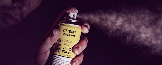 The email line that's client repellent — Client Giant