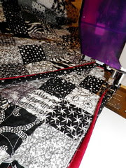 sewing down new faux-piped binding