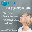 IQ Test.  No obligations, free online IQ test at 123test.com