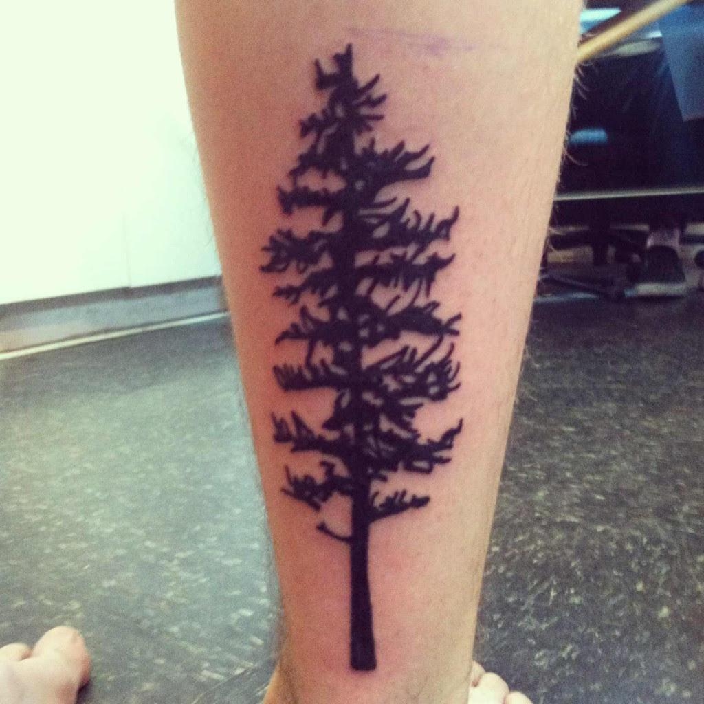 Forearm Redwood Tree Tattoos