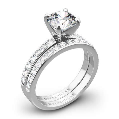 Benchmark Large Pave Diamond Wedding Set   Whiteflash   3642
