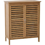 Gallerie Decor Natural Bamboo Floor Cabinet Brown