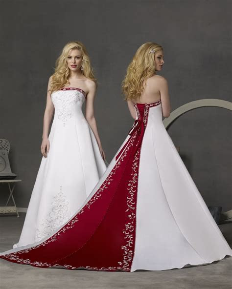 Wedding Dresses with Red Accents   Wedding Inspiration Trends