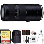 Tamron 70-210mm F/4 Di VC USD Telephoto Zoom Lens w/ 64GB Accessories Bundle