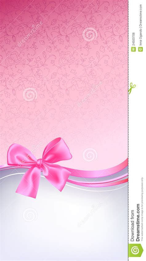 Pink bow background stock vector. Image of backdrop