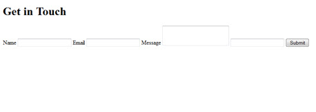 Contact Form un-styled