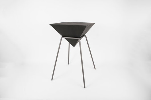 Inverted Pyramid Table  12W x 20H  Handmade by CrosstreeStore