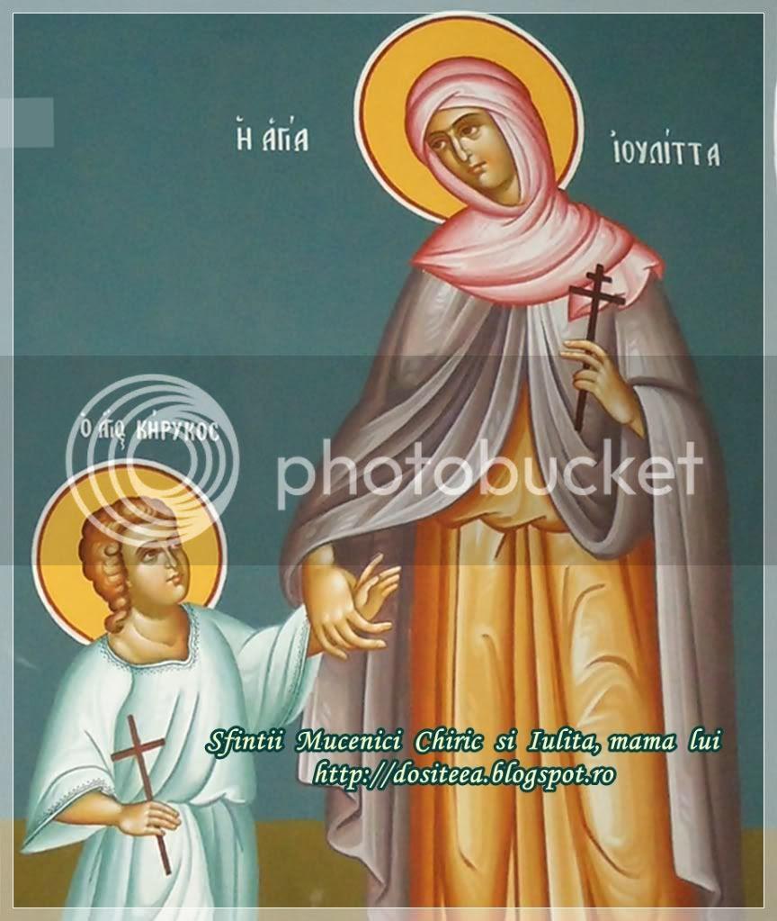 Sf. Chiric (prunc de trei ani) si Iulita, mama sa - 15 iulie
