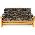 LS Covers Gone Hunting Full Futon Cover Fits Mattress 54x75 x 6 to 8