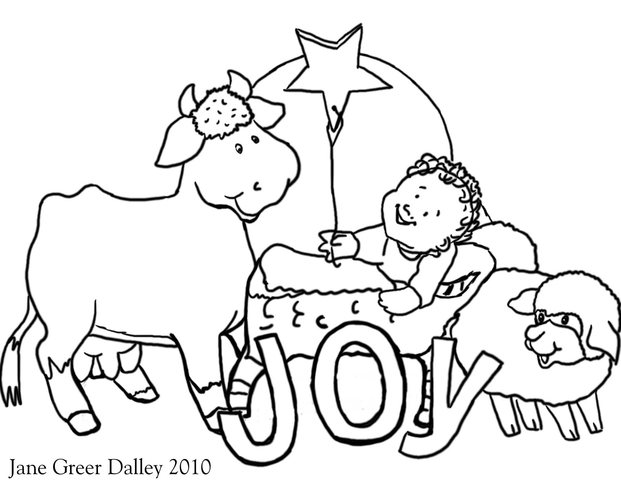 Simple Nativity Scene Coloring Pages at GetColorings.com ...