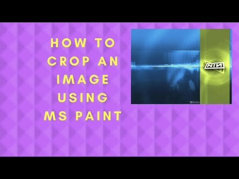 How to crop an image using MS Paint