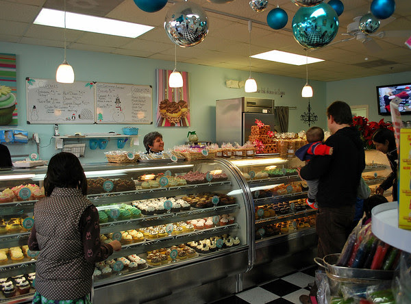Customers at Sugar Bakery & Sweet Shop