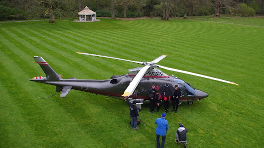 Helicopter Filming on Fashion Shoot - Skylark Aerial Photography
