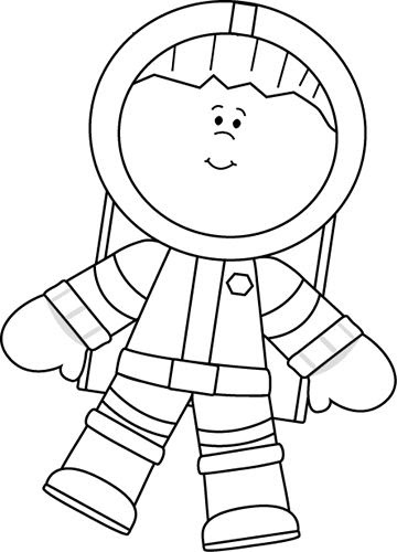 Astronaut Art Project For Cut Out Astronaut Crafts For Preschoolers