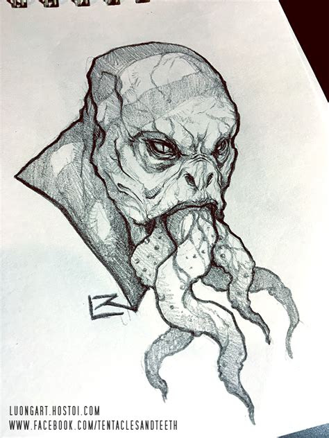 monster sketch  tentaclesandteeth  deviantart