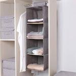 Hanging Closet Cubby Storage Organizer Drawer Beige
