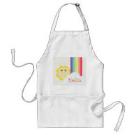 Cute Sun & Rainbow Apron