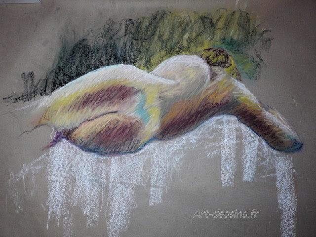 Obra De Arte Mayli Galerie Desnudo Alargado En Colores Pastel