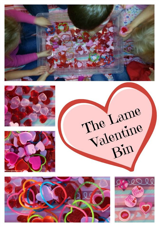 The Lame Valentine Sensory Bin - Love to Laugh and Learn