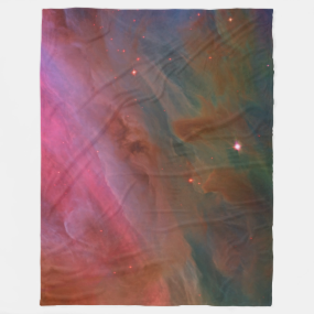 Pillars of Dust, Orion Nebula outer space image Fleece Blanket