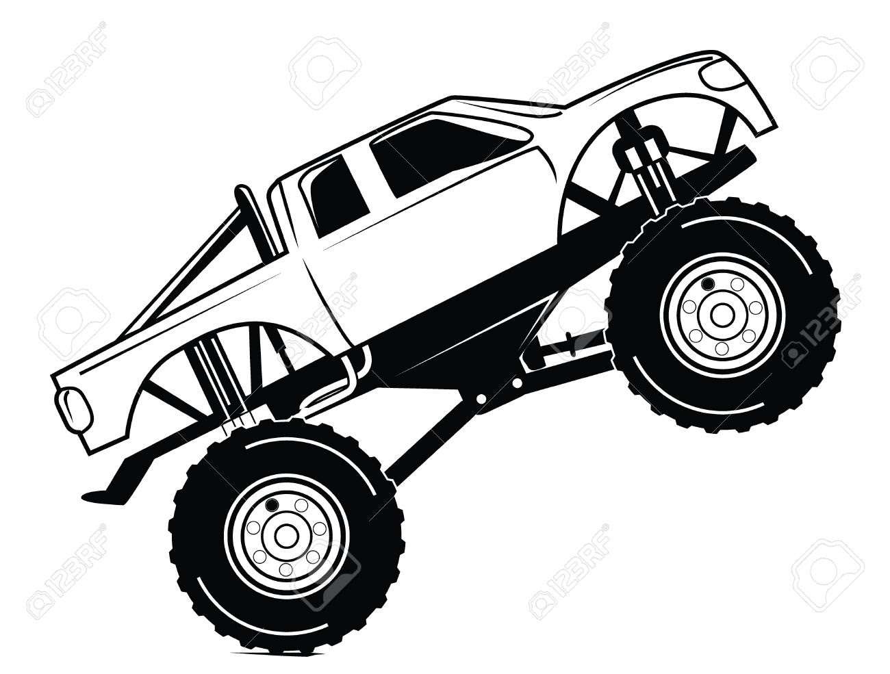 Monster Truck Drawing At Getdrawings Com Free For Personal Use
