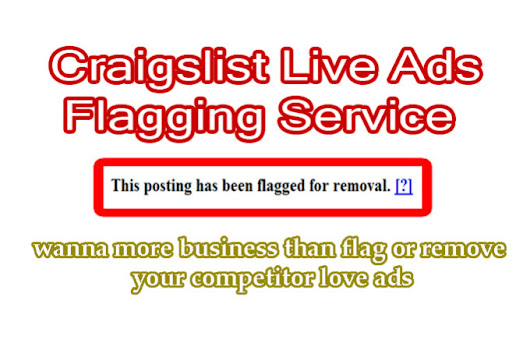 I will do flag 16 craigslist live ads just ASAP