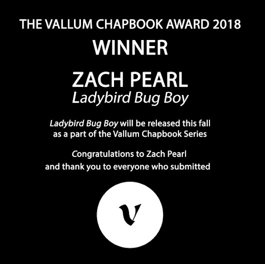 Announcing the Winner of the Vallum Chapbook Award 2018!