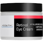 Yeouth - Retinol 2.5% Eye Cream With Hyaluronic Acid, Green Tea, Caffeine, And Ginseng