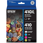 Epson 410XL Ink Cartridge, Cyan/Magenta/Yellow/Photo Black/Black - 5-pack