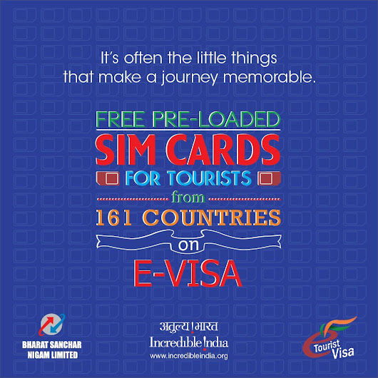 Free SIM Cards for Foreign Tourist on e-visa by Indian Government