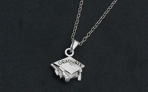 Graduation Charm Necklace   Mortar Board Cap