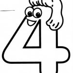 Number 4 Four Tracing And Coloring Worksheets Crafts And