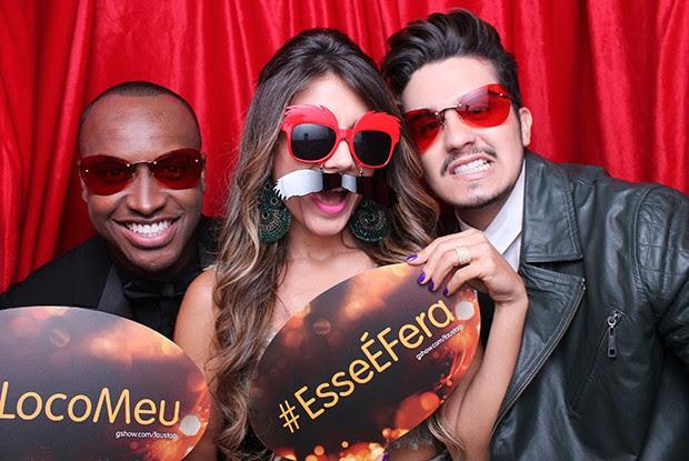 Thiaguinho, Paula Fernandes e Luan Santana fizeram a festa (Foto: Domingão do Faustão/ Gshow)