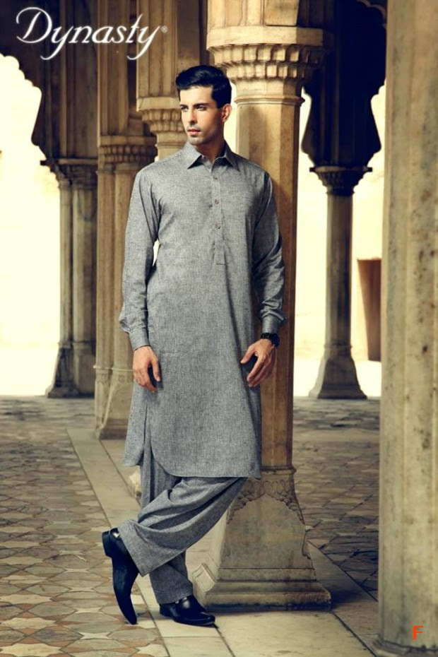 Mens-Wear-Cotton-Embroidered-Kurta-Pajama-By-Dynasty-Fabrics-New-Fall-Collection-2013-14-5